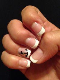 French tip w/ anchor Gel | Nail designs | Pinterest ...