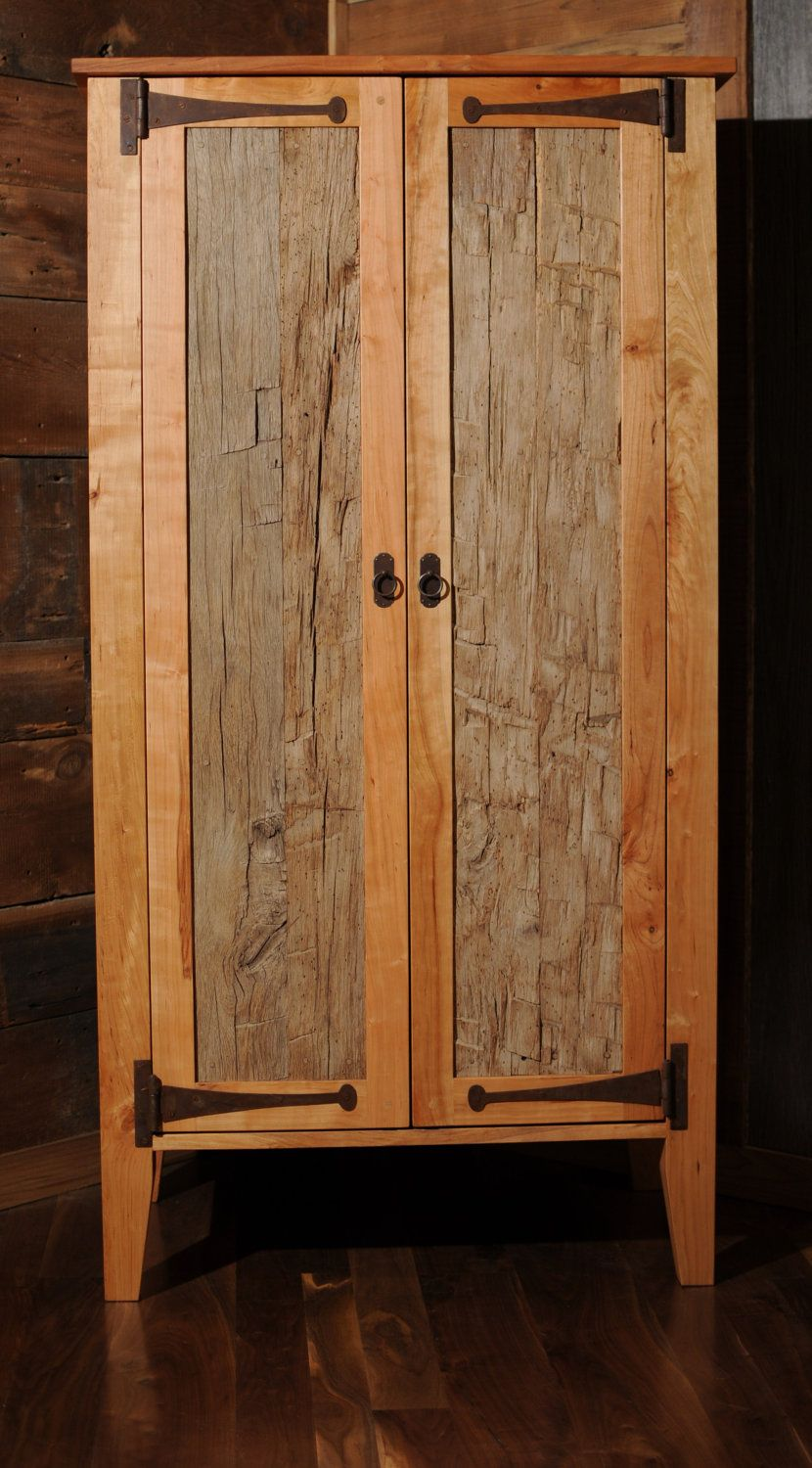 Quilt Made Pallet Wood Cabinet