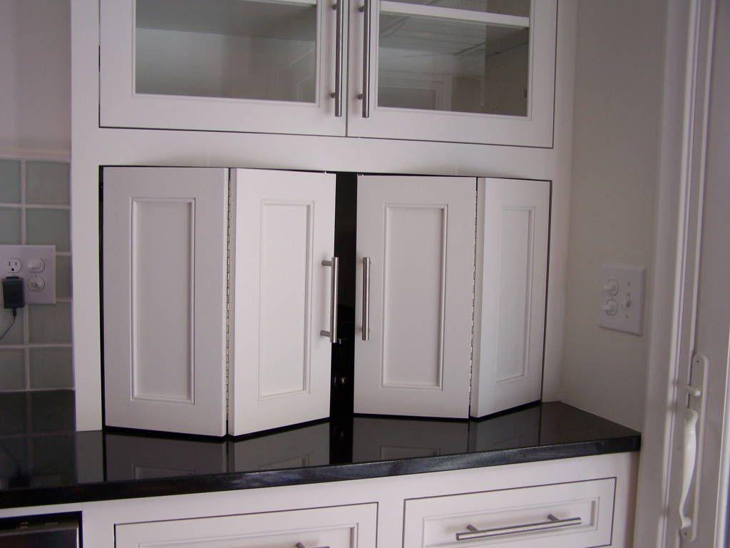 bi fold kitchen cabinet doors caddy recycle 43bifold 43doors appliance lift double wide