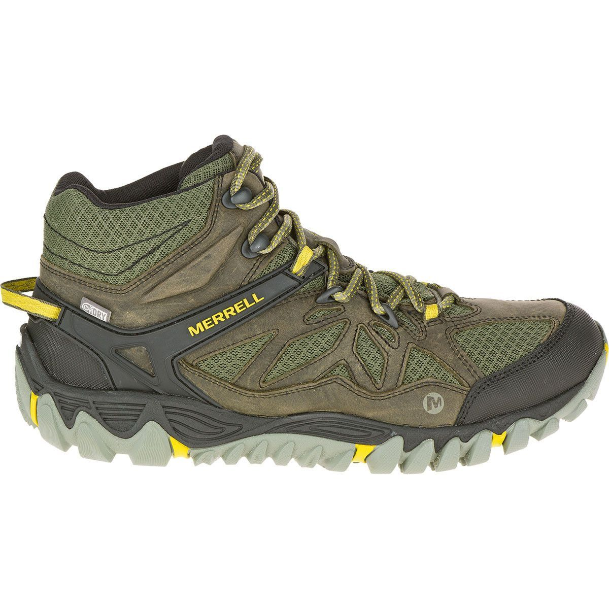merrell all out blaze vent mid waterproof olive ankle hiking boots shoes size