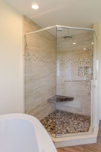 Shower Ideas - large custom tile shower with large tile ...