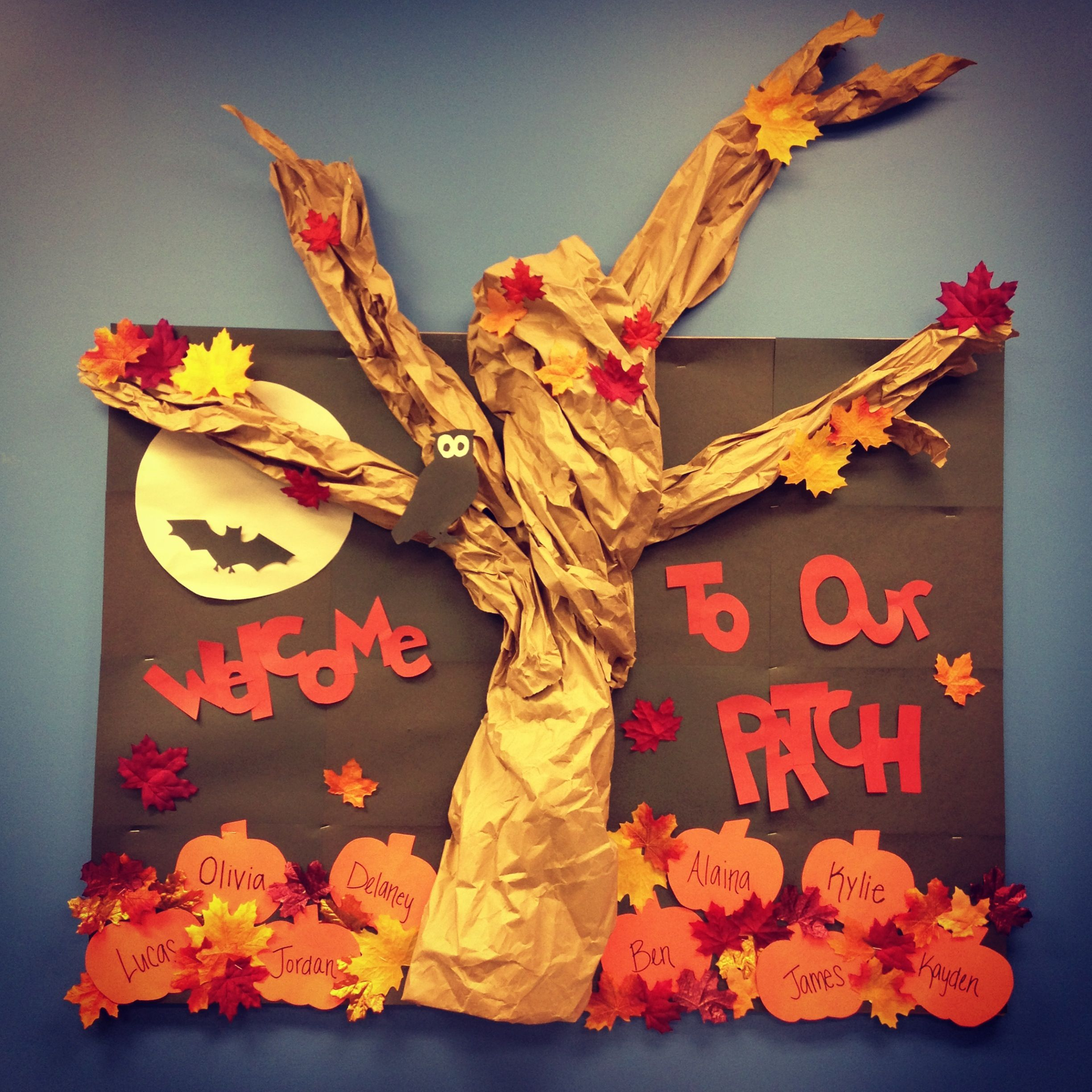 Our Fall Bulletin Board Perfect For Autumn And Pumpkin