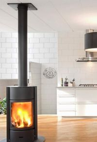 contemporary stand alone gas fireplaces | Solid Fuel Stove ...