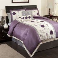 grey and purple bedrooms | Purple and Grey Floral ...