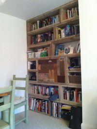 Scaffold board bookcase