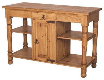 Rustic Pine Kitchen Island Rustic Kitchen Islands And Kitchen Carts