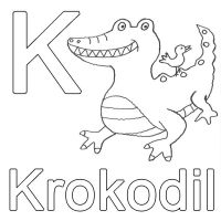 Ausmalbild Buchstaben lernen Kostenlose Malvorlage K wie ...
