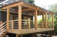 Horizontal Wood Deck Railing Ideas See 100s of Deck ...