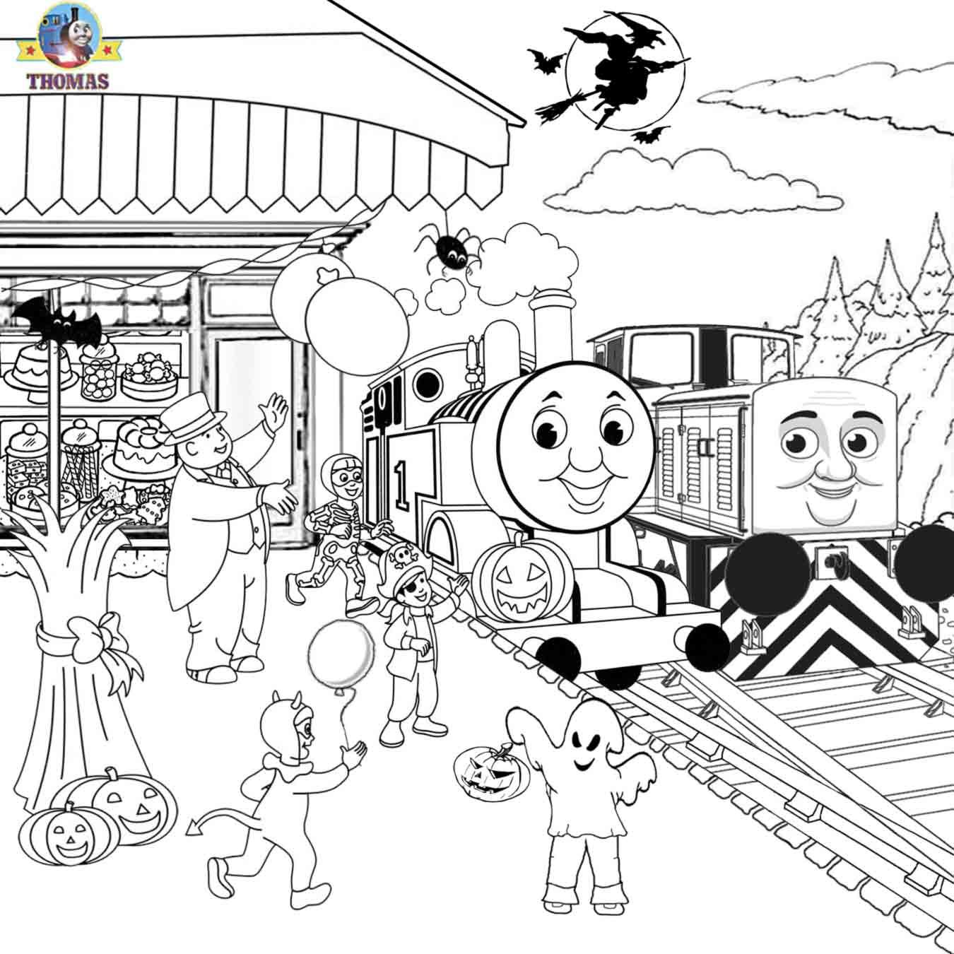 Sel Den Thomas The Train Coloring Pages Free Printables