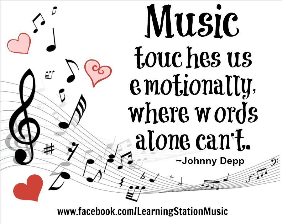 """""""Music touches us emotionally, where words alone can't"""
