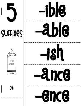 {Free} Common Prefixes and Suffixes Foldables. We don't