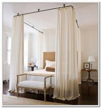 Ceiling Canopy Curtain Rods