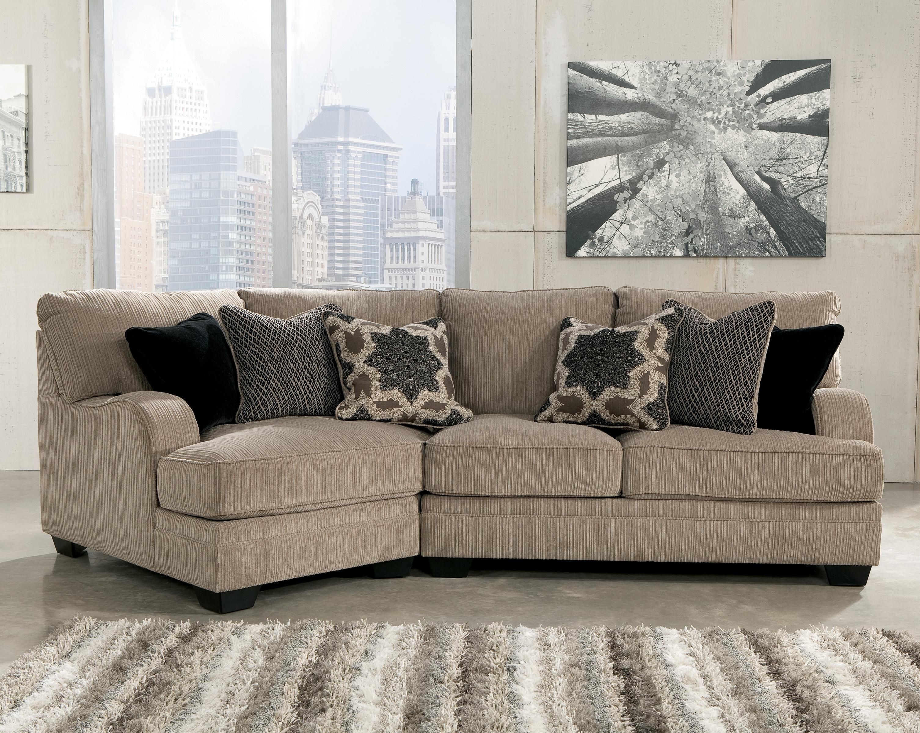 sofa with cuddler and chaise gus bed katisha platinum 2 piece sectional left by