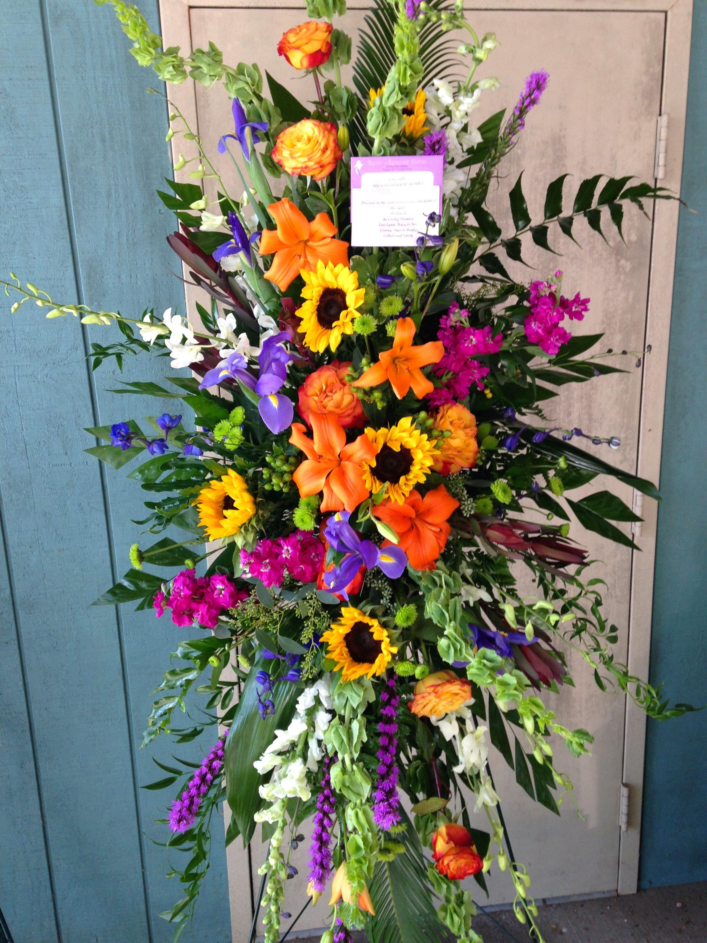 Standing funeral flower arrangements ideas izmirmasajfo