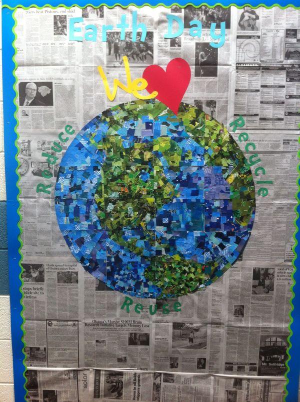 Earth Day Bulletin Board Idea
