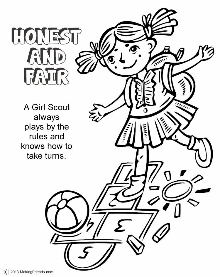 Girl Scouts Honest and Fair. Print this page and have the