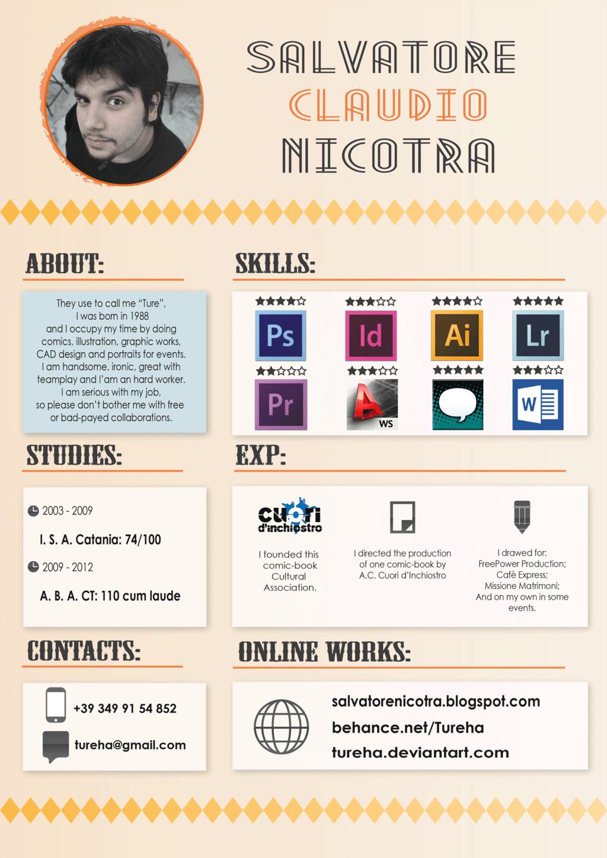 Clean Creative Resume Resumes Pinterest Creative Cv