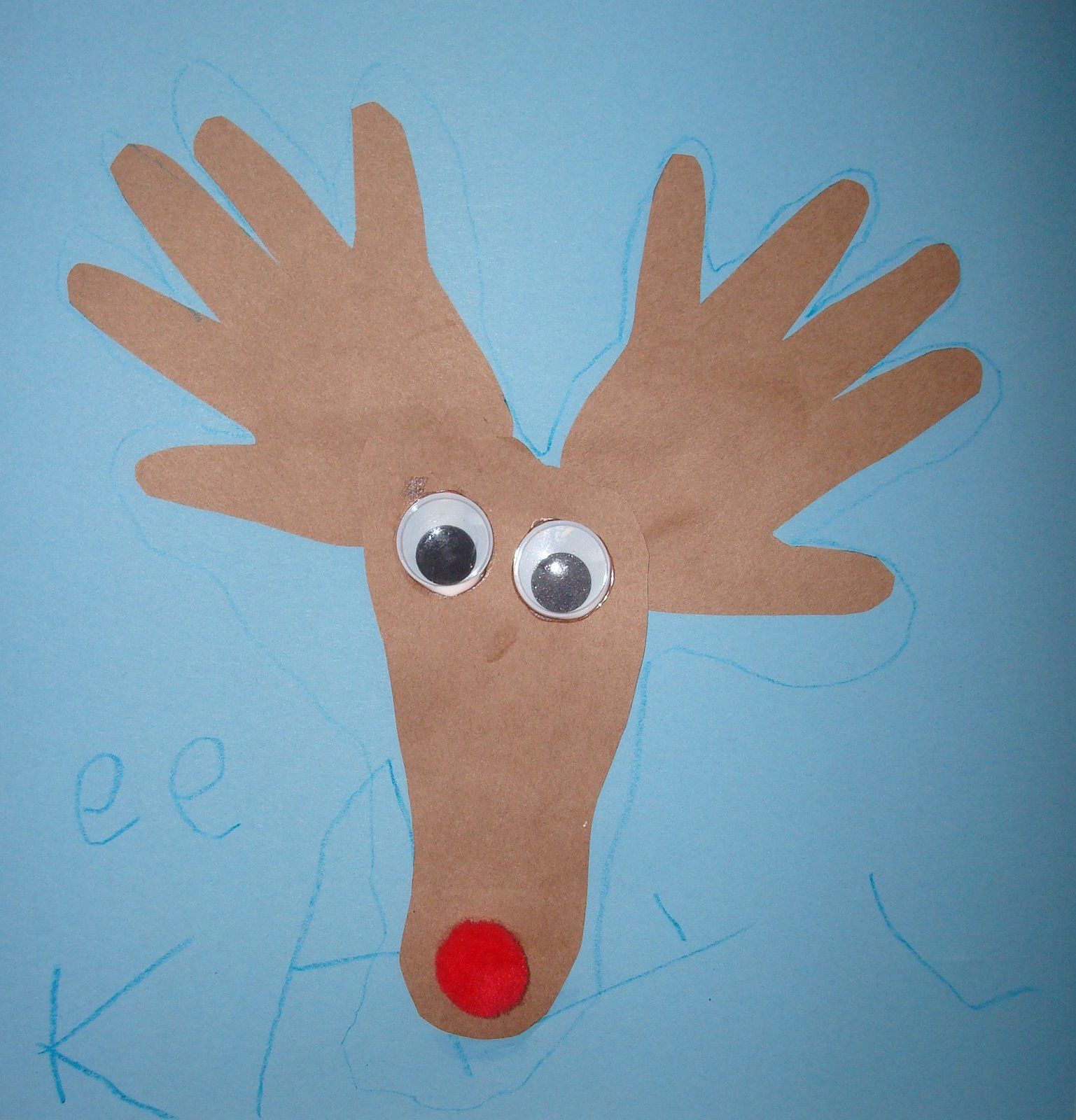 Homemaking Fun Christmas Help Your Child Trace Both Hands