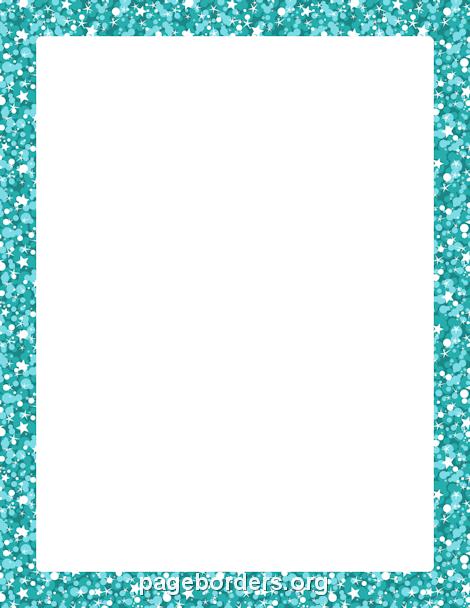 blue glitter border hoja1