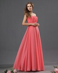 Salmon Pink Bridesmaid Dresses