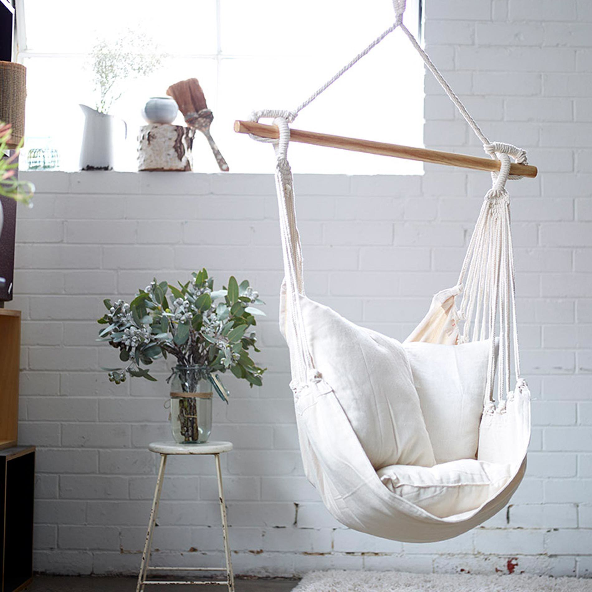Egg Chair Hanging From Ceiling Noosa Hammock Swing In Natural Hammock Chair Verandas