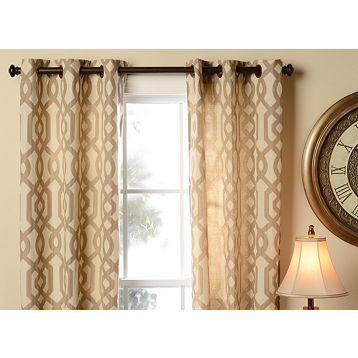 Dot Lattice Curtain Panel Threshold™ Master Bedrooms Gray And