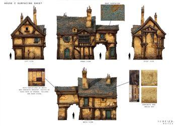 medieval building plans minecraft blueprints houses plan models fantasy interior village sketches 3d