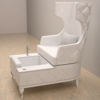 The Carrie Pedicure Chair is inspired by the fashion icon