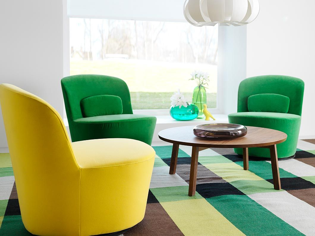 ikea swivel chairs living room office chair and desk stockholm easy in sandbacka yellow green