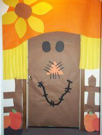 Scarecrow Door Decoration | {Classroom} Bulletin Boards ...