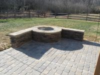 Paver patio with stone firepit in Charlotte by Archadeck ...