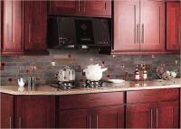 red backsplash tiles kitchen