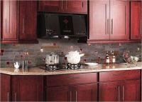 red backsplash tiles kitchen | ... cabinet pink granite ...
