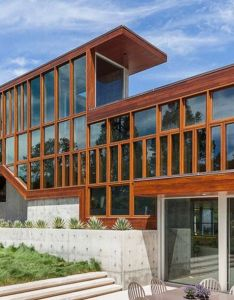 Timber framed house designed by swatt miers architects also mansions rh za pinterest