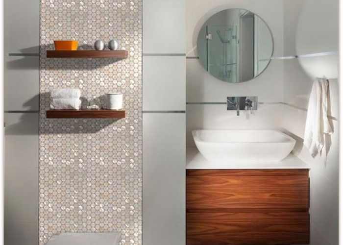 Bathroom also home elements mother of pearl tile glass mosaic shell