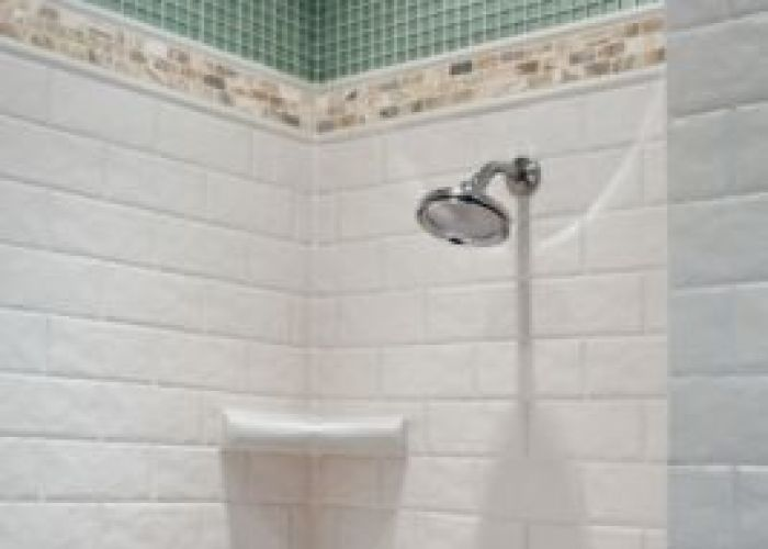 White tile marble and glass mosaic also bathroom pinterest
