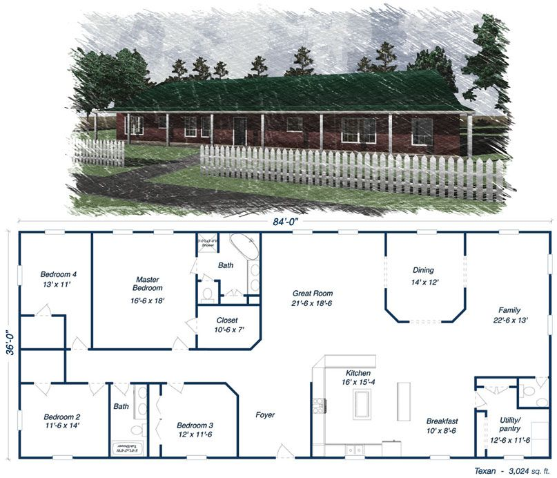 Metal 40x60 Homes Floor Plans Our Steel Home Floor Plans Click