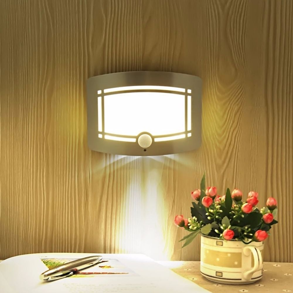 hight resolution of led human body induction night light photosensitive control wall nightlight no wiring wall light power saving