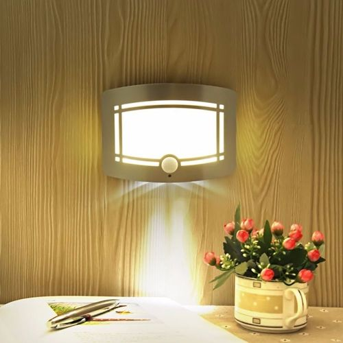 small resolution of led human body induction night light photosensitive control wall nightlight no wiring wall light power saving
