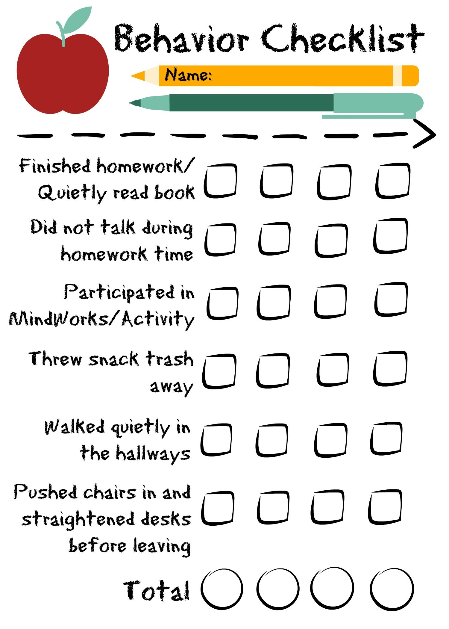 Top Autism Behavior Checklist Pics