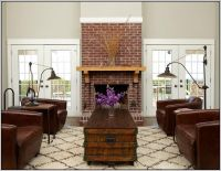 Red Brick Fireplace Living Room - [peenmedia.com]