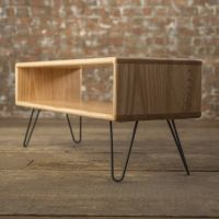 Ash Midcentury Modern Hairpin Leg Tv Stand | Hairpin legs ...