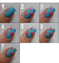 Simple Flower Nail Art Tutorial | www.imgkid.com - The ...