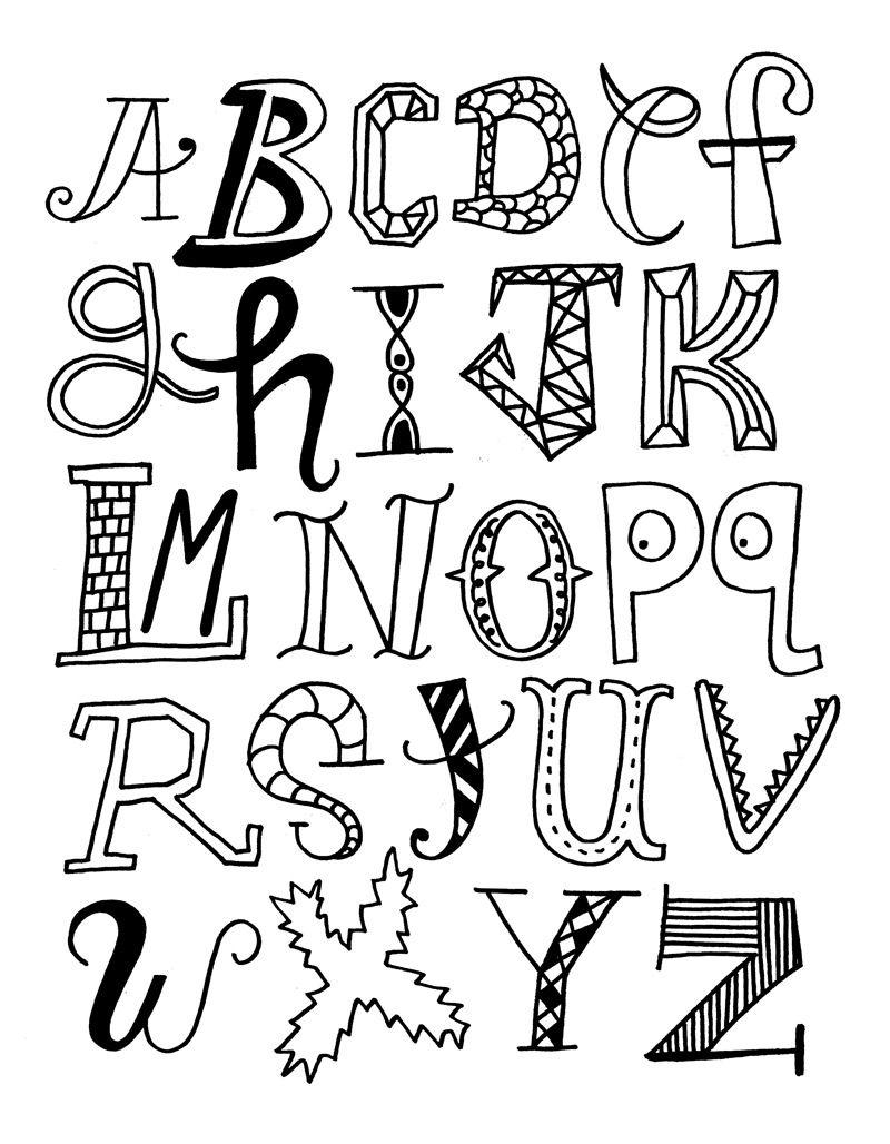 Our Alphabet Stencils Page includes Stencils from