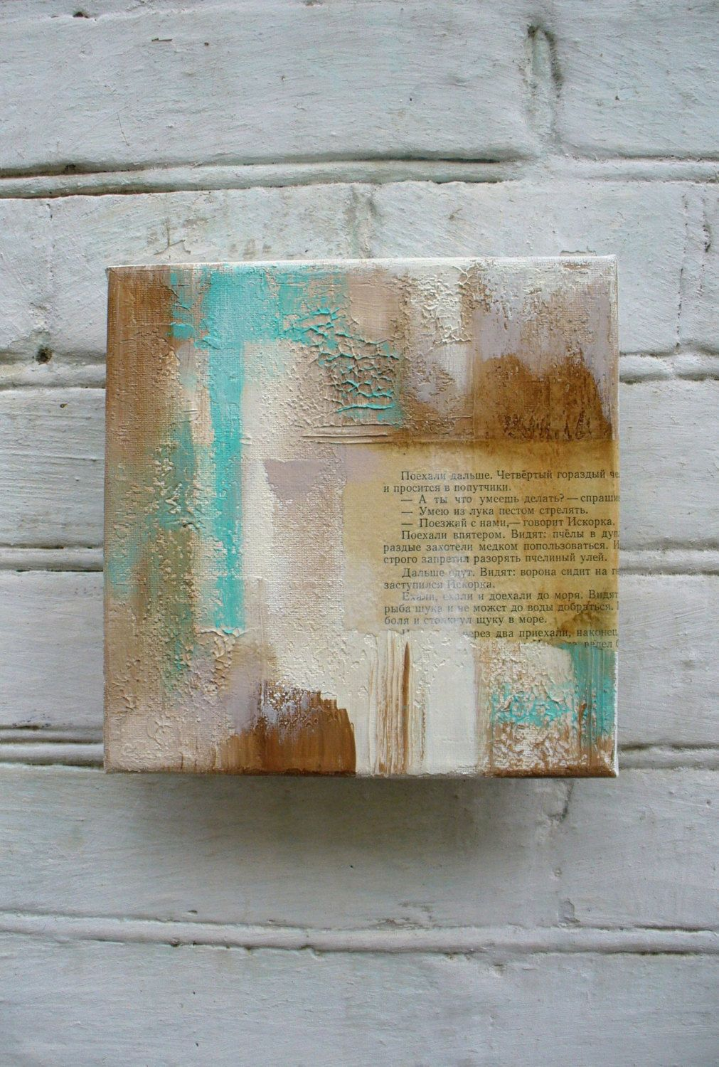 Original acrylic painting mixed media collage art abstract modern wall decor also rh pinterest