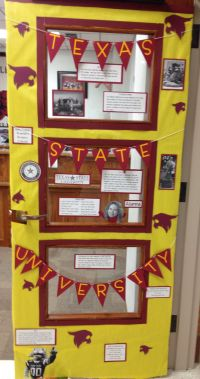 Texas State University door decoration. This week at ...