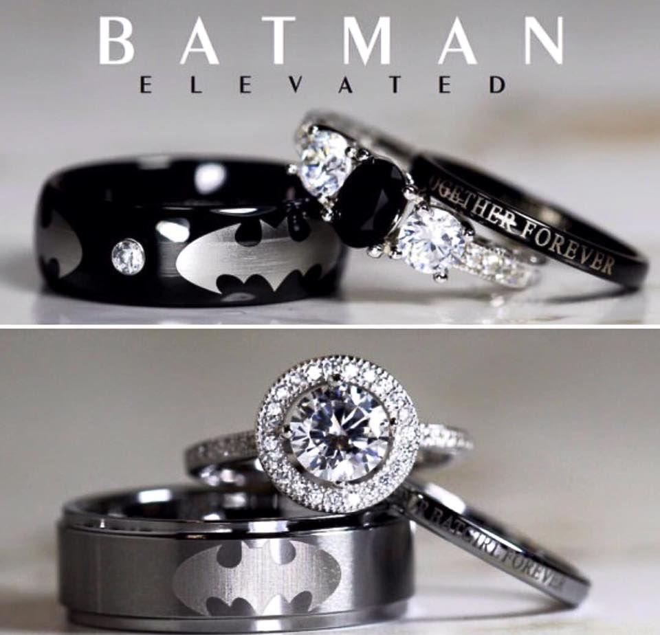 Nightmare Before Christmas Sterling Silver Wedding Rings