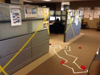 Cube decorating contest in the office. Happy Halloween ...