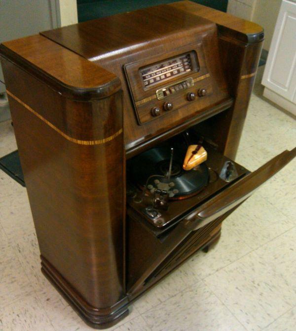 1942 Philco Radio Beam Of Light Phonograph Works Res