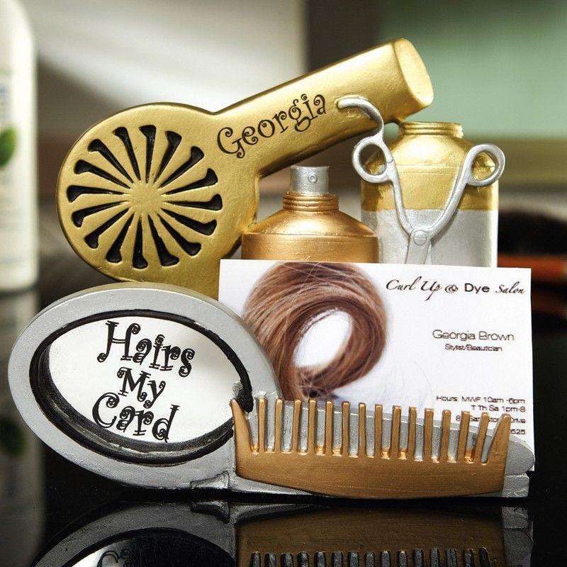 hairdresser business card holder  Google Search  cute  Pinterest  Best Business card holders